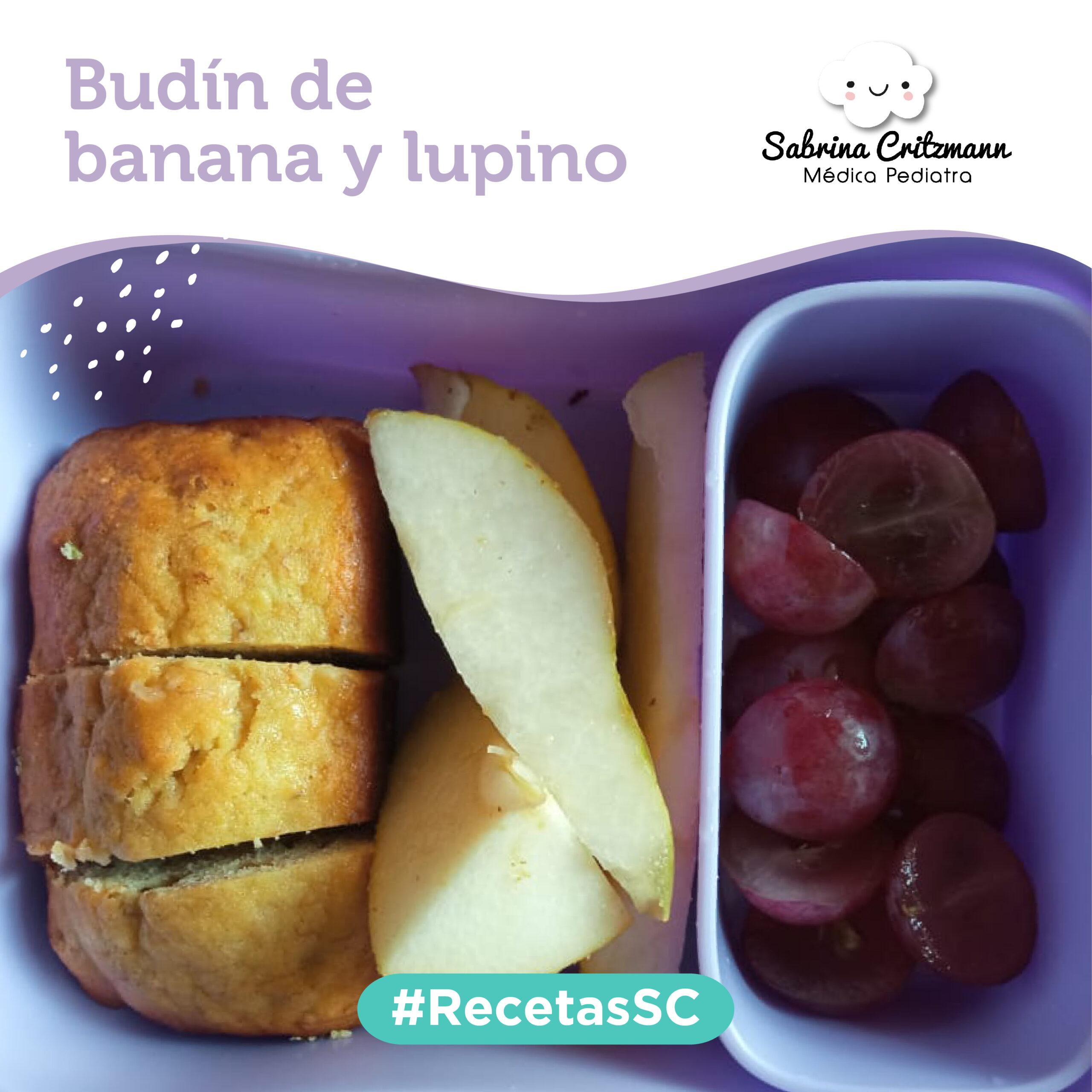 receta budín de banana y lupino
