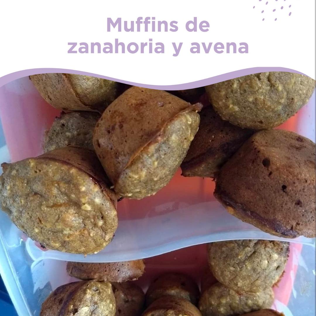 muffins de zanahoria y avena