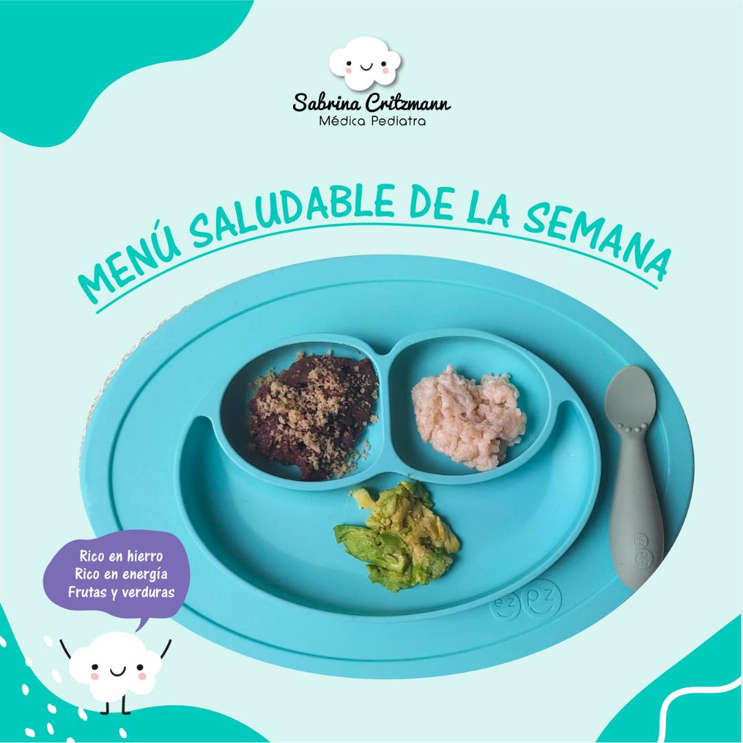 Idea de menú saludable para bebés